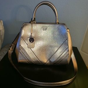Rose Gold Guess Satchel with Removable Strap